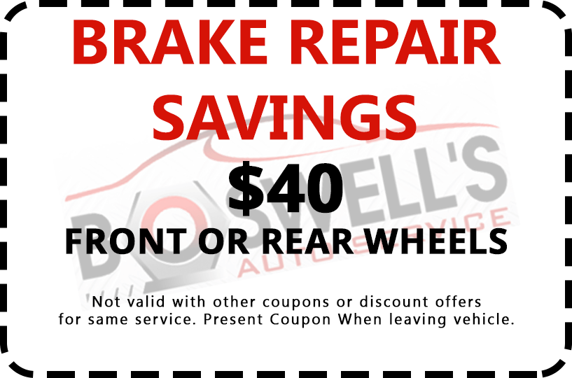 Brake Repair Coupon